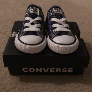 Navy baby converse